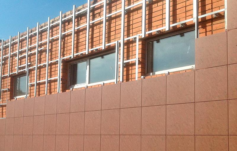 Фасадные работы с облицовкой